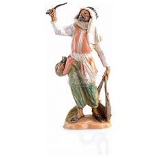 Pastore Con Frusta 6,5cm In Resina Presepe (f-246)