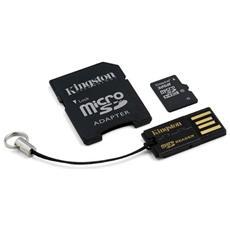 Mobility Kit: MicroSDHC 32 Gb Classe 10 con adattatore SD e lettore Usb
