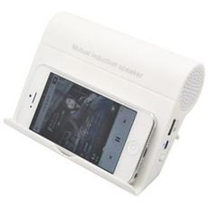 Cassa Magica Induzione Universale Smartphone e Lettori Audio Speaker Bianco
