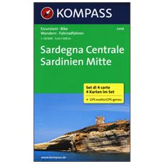 Sardegna centrale-Sardinien mitte. Carta escursionistica 1:50.000. Ediz. bilingue