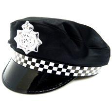 Berretto Da Poliziotto Adulti (taglia Unica) (nero)
