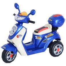 Triciclo Motorino Elettrico Per Bambini Con Luci E Musica, Blu