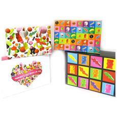set di 4 scatole di stoccaggio '' multicolori - [ l8806]
