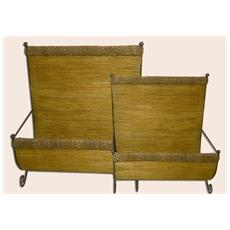 Porta Riviste A Muro Corda & Bamboo
