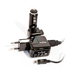*Puro Set Carica Batterie Da Viaggio E Auto Travel Power Per Bb, Htc, Mot, Sny Ner
