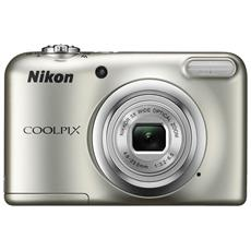 NIKON - Coolpix A10 Argento Sensore CCD 16Mpx Zoom ottico...
