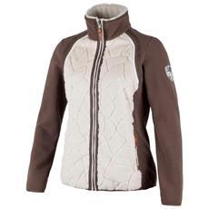 Pile Donna Medium Fleece Marrone Bianco 36