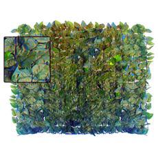 Siepe artificiale sintetica copertura giardino finte foglie di lauro m 1x3