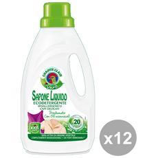 Set 12 Bucato Vert 1 Lt. Ecodetergente Detergent