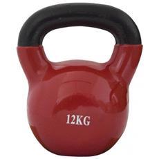 Ghiria Kettlebell Neoprene Rosso Body Building Rafforzamento Palestra 12kg