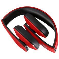Tuis, Stereofonico, Bluetooth, Padiglione auricolare, Nero, Rosso, Con cavo e senza cavo, Sovraurale