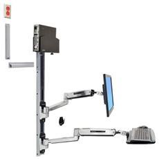 Sistema di montaggio a parete per lavorare seduti e in piedi LX