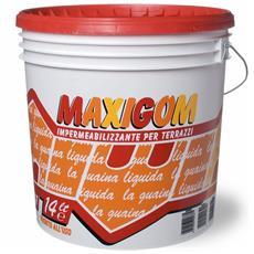 Guaina Liquida Impermeabilizzante Maxigom Laiv Rosso Ossido 14L Calpestabile