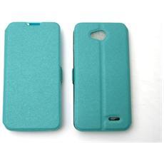 Lg D405 L90 Custodia Bag Case Libro Book Pocket Colore Celeste
