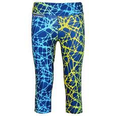 Pantalone Donna L. 3/4 Giallo Blu S