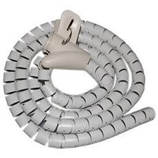 Copricavo Bianco Raccogli Cavi Mangia Cavo Nascondi 1,5 Metri A Spirale 18 - 20 Mm Cable Zip Tubo