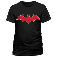 Batman - Red Batmobile Logo (T-Shirt Unisex Tg. XL)
