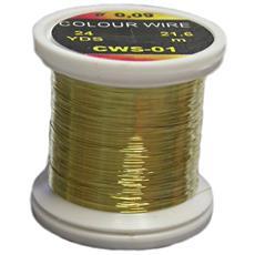Filo Di Rame Colour Wire 0.18 Unica Giallo