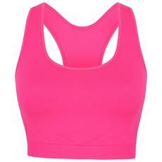 Skinny Fit Reggiseno Sportivo Donna (xs) (rosa Neon)