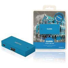 Hub USB 2.0 a 4 porte Colore Blu