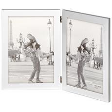 Larissa argento 2x13x18 metallo Portafoto PX218S