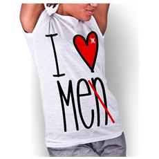 T-shirt Donna I Love Me S Bianco