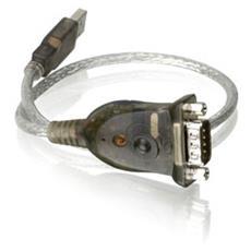 USB to Serial RS-232 Adapter RS-232 USB Grigio cavo di interfaccia e adattatore