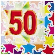 20 Tovaglioli 50° Compleanno Stardust