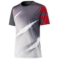 Vision Graphit T-shirt M Grigio Rosso S