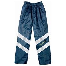 Pantaloni Alta Visibilità Goodyear In In Poliestere Oxford Traspirante Colore Blu Taglia L