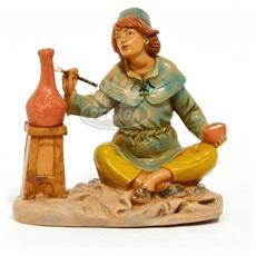 Pittore 12cm Statuetta In Resina Per Presepe (f-32)
