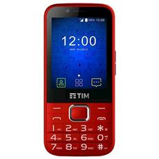 """EASY Rosso Display 2.4"""" Wi-Fi + 4G Fotocamera 2Mpx Android - Tim Italia"""