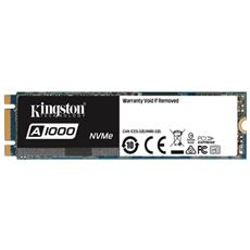 KINGSTON - SSD 240GB Serie A1000 M. 2 Interfaccia PCI Express...