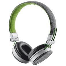 Cuffie con Microfono Fyber Colore Grigio / Verde