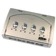 (cf074) Switch Usb 4 Porte X 2 Pc