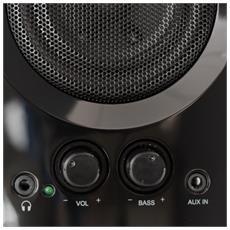 Big Bass 95, PC, 2-vie, Tavolo / Libreria, 20W, 50 - 20000 Hz, 70 dBi