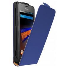 HUAWEI-ASCEND-G525-F Custodia a libro Blu custodia per cellulare