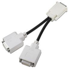 DVI 'Y' adapter cable 0.203m DMS 2 x DVI Nero cavo DVI