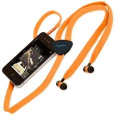 Auricolare Hi-String con cavo in tessuto - Arancione