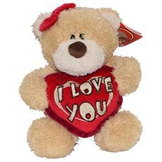 San Valentino peluche Teddy orsetto con cuore I Love You cm. 25