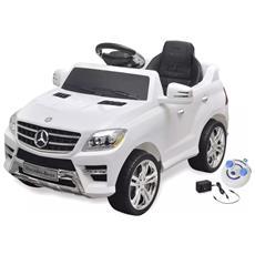 Macchina Cavalcabile Mercedes Benz Ml350 Bianca 6v Con Telecomando