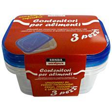 Contenitore Plastica Freezer-forno C / cop. x 3 Pezzi Casre5239 - Vaschette Per Alimenti