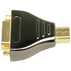 HDMI / DVI-D M / F, HDMI, DVI-D, Maschio / femmina, Nero