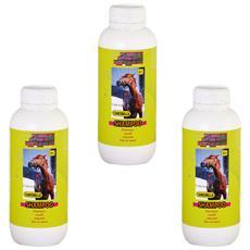 Shampoo naturale cavalli e puledri antiparassitario e rinfrescante 3x 1 lt