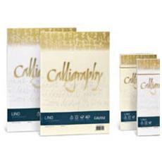 conf. 25 Calligraphy effetto lino busta 11x22cm A57Q514