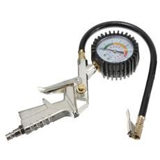 Pistola ad aria per pneumatici con manometro per compressore