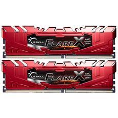 Memoria Dimm Serie Flare X 32 GB (2x16 GB) DDR4 2400 MHz CL 15 Colore Rosso