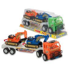 TRM64428 Camion dei Lavori in Corso con 2 Ruspe - Colori Assortiti