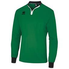 Maglietta Da Arbitro A Maniche Lunghe Unisex (s) (verde / nero)
