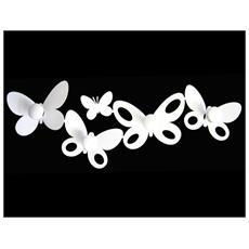 Appendi Abiti Design Butterfly Farfalla Bianco